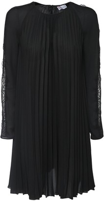 RED Valentino Pleated Double Georgette Mini Dress