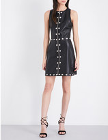 Versus Studded leather shift dress
