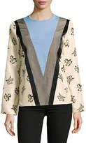Mo&Co. Edition10 Silk Blend Colourblock Top