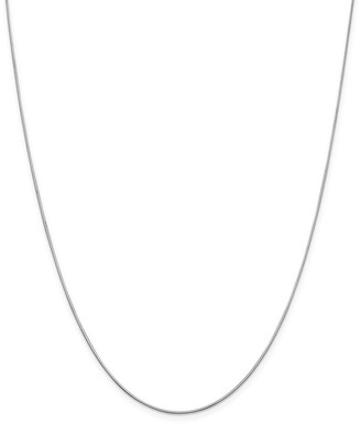 Curata 14k White Gold 0.8mm Diamond Cut Octagonal Snake Chain Necklace Options: 16 18