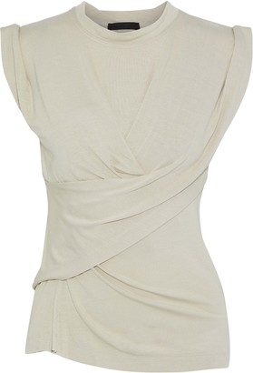 Alexander Wang Draped Gathered Jersey Top