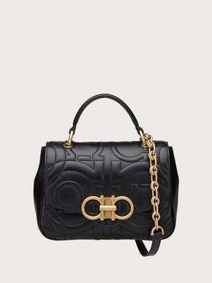 Salvatore Ferragamo Women Quilted Gancini handbag small Black