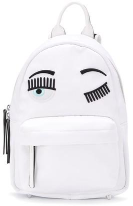 Chiara Ferragni winking eye backpack
