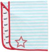 Rockin Baby Rockin' Baby Boys Blue Stripe Boat Print Reversible Warmin' Blanket