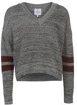 Soul Cal SoulCal Womens Cal Knit Jumper Sweater Pullover Long Sleeve V Neck Oversized