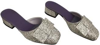 Victoria Beckham Silver Glitter Sandals