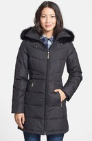 Ellen Tracy Women's Genuine Fox Fur Trim Down Parka