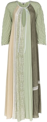 Masterpeace Panelled Lace Dress