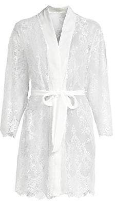 Jonquil Women's Sara Scalloped Lace Short Robe