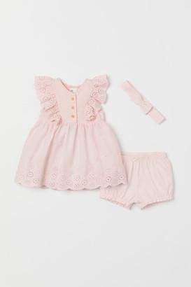 H&M 3-piece Jersey Set - Pink