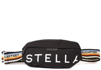 Stella McCartney Black Padded Nylon Belt Bag With Logo Stella