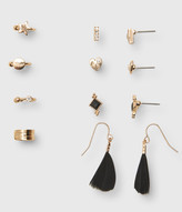 Feather French Wire, Stud & Cuff Earring 8-Pack