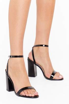 Nasty Gal Womens Dance to My Tune Faux Leather Wide Fit Heels - black - 3