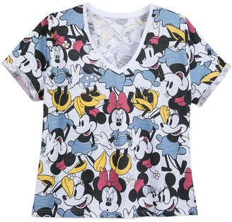 Disney Minnie Mouse V-Neck T-Shirt for Women Extended Size