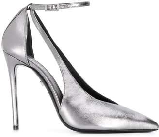 Grey Mer cut out stiletto pumps