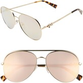 Marc Jacobs The Daisy 58mm Mirrored Aviator Sunglasses