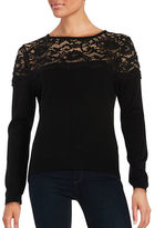 Ivanka Trump Lace-Accented Sweater