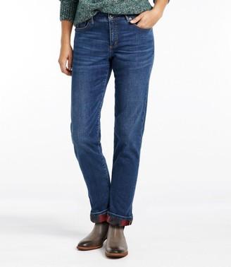 L.L. Bean Women's Signature Lined Boyfriend Jeans