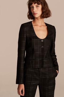 Rebecca Taylor Crosshatch U Neck Jacket