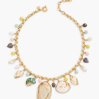 Talbots Seashell Statement Necklace