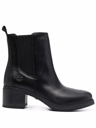 Timberland Slip-On Leather Ankle Boots