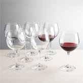 Crate & Barrel Set of 8 Viv Red Wine Glasses