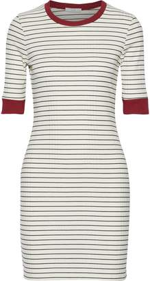 Joie Tralena Striped Ribbed-jersey Mini Dress