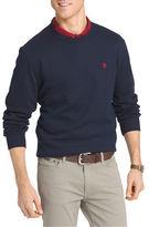Izod Big and Tall Long Sleeve Solid Advantage Fleece Sweater