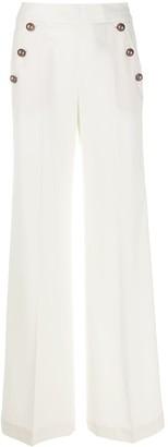 Pt01 Wide-Leg Button Trousers