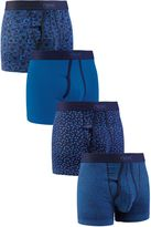 Blue Mini Floral A-fronts Four Pack