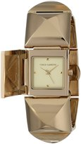Vince Camuto Women's VC/5026CHGB -Tone Pyramid Bracelet Covered Dial Watch