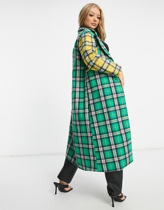 UNIQUE21 mix & match overcoat in check