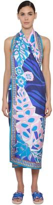 Emilio Pucci Convertible Printed Silk Twill Dress