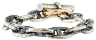 Hermes Two-Tone Chaîne d'Ancre Bracelet