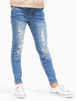 Calvin Klein Jeans Girls Ultimate Skinny Ripped Jeans