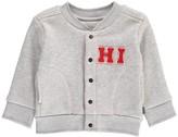 Imps & Elfs Organic Cotton Baseball Sweatshirt with Poppers