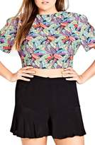 City Chic Bongo Bongo Crop Top