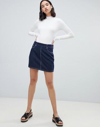 FAE denim mini skirt