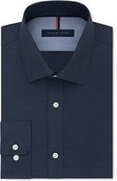 Tommy Hilfiger Men's Slim-Fit Non-Iron Navy Solid Dress Shirt