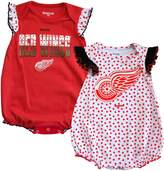 Reebok Detroit Red Wings Newborn Girls Polka Fan 2-Pack Bodysuit Set
