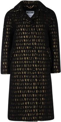 Moschino All Over Logo Coat