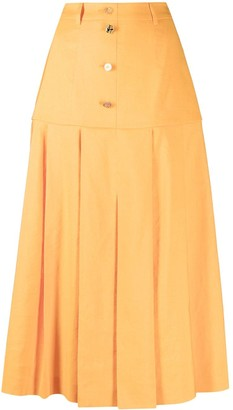 REJINA PYO Front-Button Pleated Midi Skirt