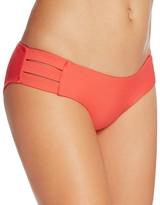 Vitamin A Emelia Coral Triple Strap Bikini Bottom