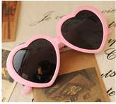 HuaYangca Cute Oversized Heart-Shaped Plastic Frame Retro Sunglasses Eyeglasses(Pink)