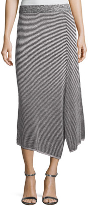 Nic+Zoe Plus Size Frosted Fall Asymmetric Skirt
