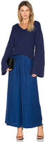 Finders Keepers Frederick Flare Sleeve Knit in Blue