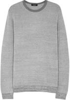 Calvin Klein Grey Textured Cotton Blend Jumper
