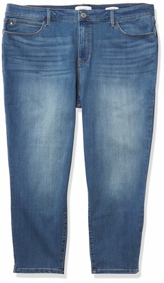 Skinnygirl Women's Plus Size The Skinny Crop in Injeanious Stretch Denim