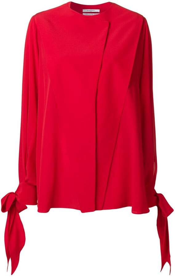 Givenchy bow-tied sleeve blouse