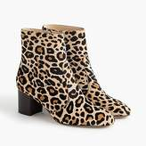 J.Crew Ankle boots in leopard calf hair